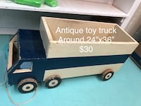 Toy truck, wooden, painted, great photography prop Woodbridge, 22193