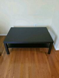 rectangular black wooden coffee table Chantilly, 20152