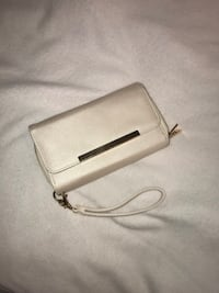 white leather long wallet with pouch Mary Esther, 32569