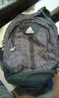 black and gray adidas backpack Hamilton, L8L