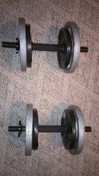 two black-and-silver dumbbells Haysville, 67060