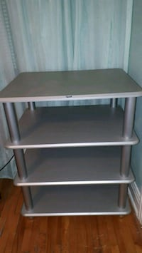 Quest Grey/silver TV stand