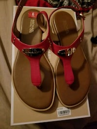 New Red mk sandals size 6 Palmview