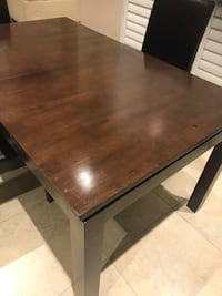 Dark colour dining table with 3 leather chairs  Brampton, L7A 3C6
