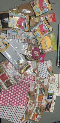 Scrapbooking / journaling Lot - all new in package 215 mi