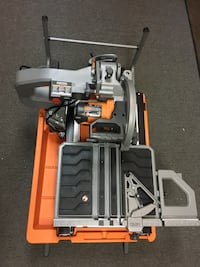 Used Ridgid 10 In Wet Tile Saw With Stand R4092 15 Amp Cuts 24 To