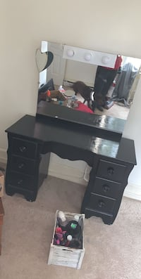 black wooden single pedestal desk Hagerstown, 21742
