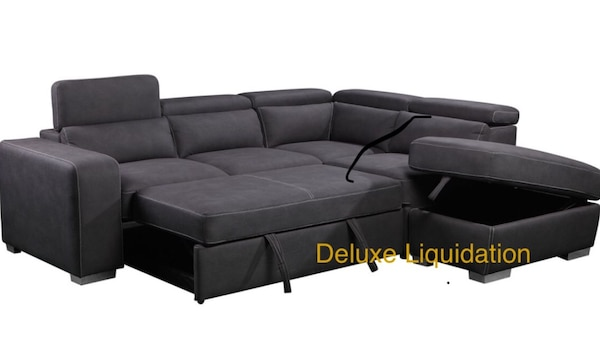 Wondrous Nib Sectional Sofa Bed W Chaise Storage Ottoman Pdpeps Interior Chair Design Pdpepsorg