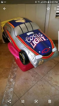large inflatable coors light stock car