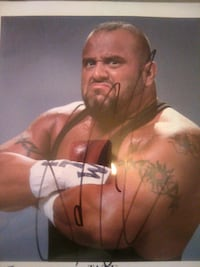 WWF TAZZ aotograph and Aouthentication slip