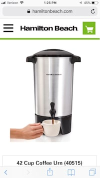 Hamilton 42 cups percolator