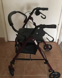 Hardly used Medline rollator with padded seat and storage Honolulu, 96814