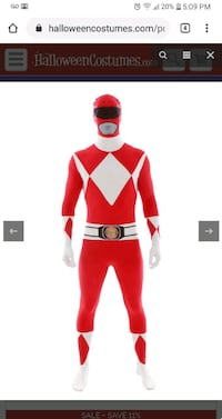 Adult Power Ranger Costume Bethlehem