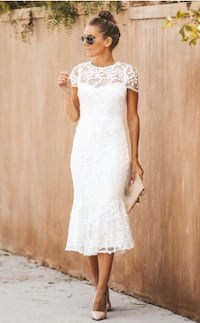Engagement lace white dress - brand new  Toronto, M5G