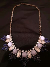 white and purple beaded necklace Toronto, M3A