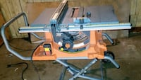 "Ridgid 10"" Table Saw with Stand Surrey, V3T 1B1"
