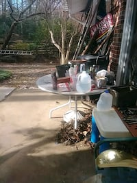 Metal picnic table w/umbrella stand w/umbrella $25 Fairfax, 22032
