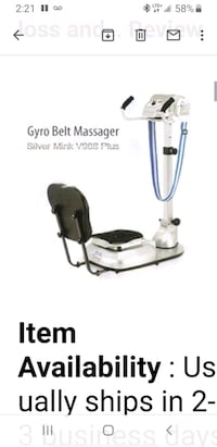 Weight LOSS Machine - SILVER MINK v988 Plus Vaughan, L6A 3W7