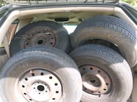 4 15 inch steel rims with almost new tires Bedford, 76022