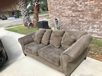 brown suede 3-seat sofa San Jose, 95133