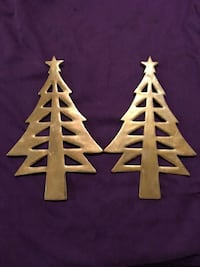 Vintage brass Christmas tree trivets Virginia Beach, 23454
