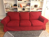 Statement Couch! Ektorp 3.5 Seat Sofa in gorgeous red for SALE! Los Angeles, 90020