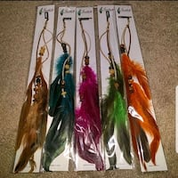 Feather hair extensions (made with leather cord)