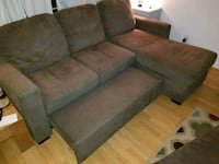 gray suede sectional couch with ottoman Ashland, 97520