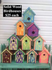 solid wood birdhouse lot with text overlay Hopkinsville, 42240