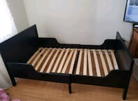 black and brown wooden bed frame Toronto, M9M 2X3