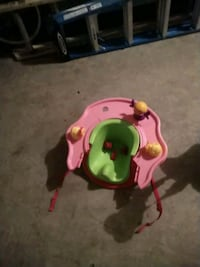 pink and green activity saucer