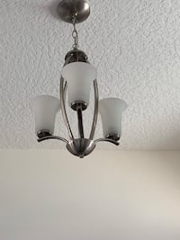 gray and white uplight chandelier Oxford, 34484