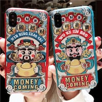 BOOPDO DESIGN WEN NENG ZHAO CAI MONEY COMING APPLE IPHONE CASES CHINES