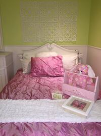 Pink double duvet cover and pillow sham Laval, H7X