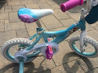 toddler's blue and pink bicycle with training wheels Toronto, M1C 1T5
