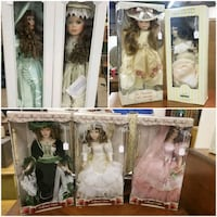 Dolls dolls and more dolls.  New in box  152 mi