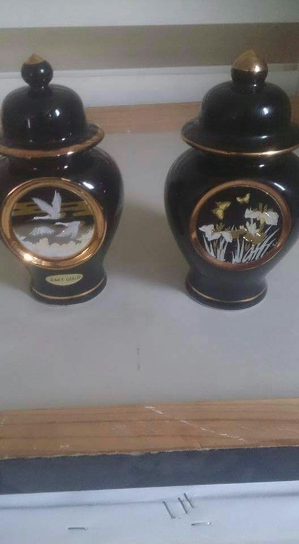 Used Pair Of Art Of Chokin Japanese Vases For Sale In Cleckheaton