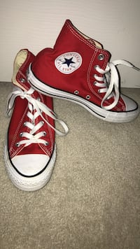 Pair of red converse all star high-top sneakers  Frederick, 21704