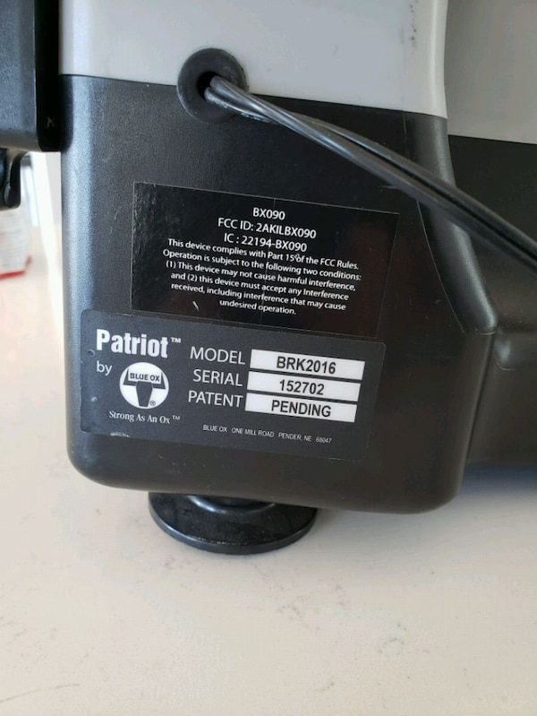 Used Blue Ox Patriot 2 Portable Breaking System for sale in