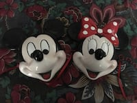 Mickey and Minnie ceramic face