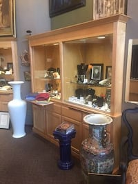 Glass Display Cases with Wood Cabinets