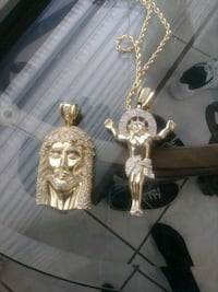 2 gold plated stainless steel Jesus pendants brand West Palm Beach, 33409