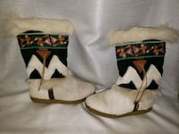 Beaded and Fur winter boots size 7