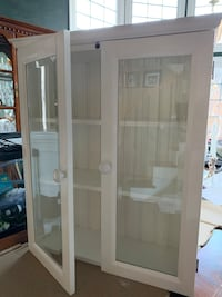 Hanging glass door Bathroom cabinet
