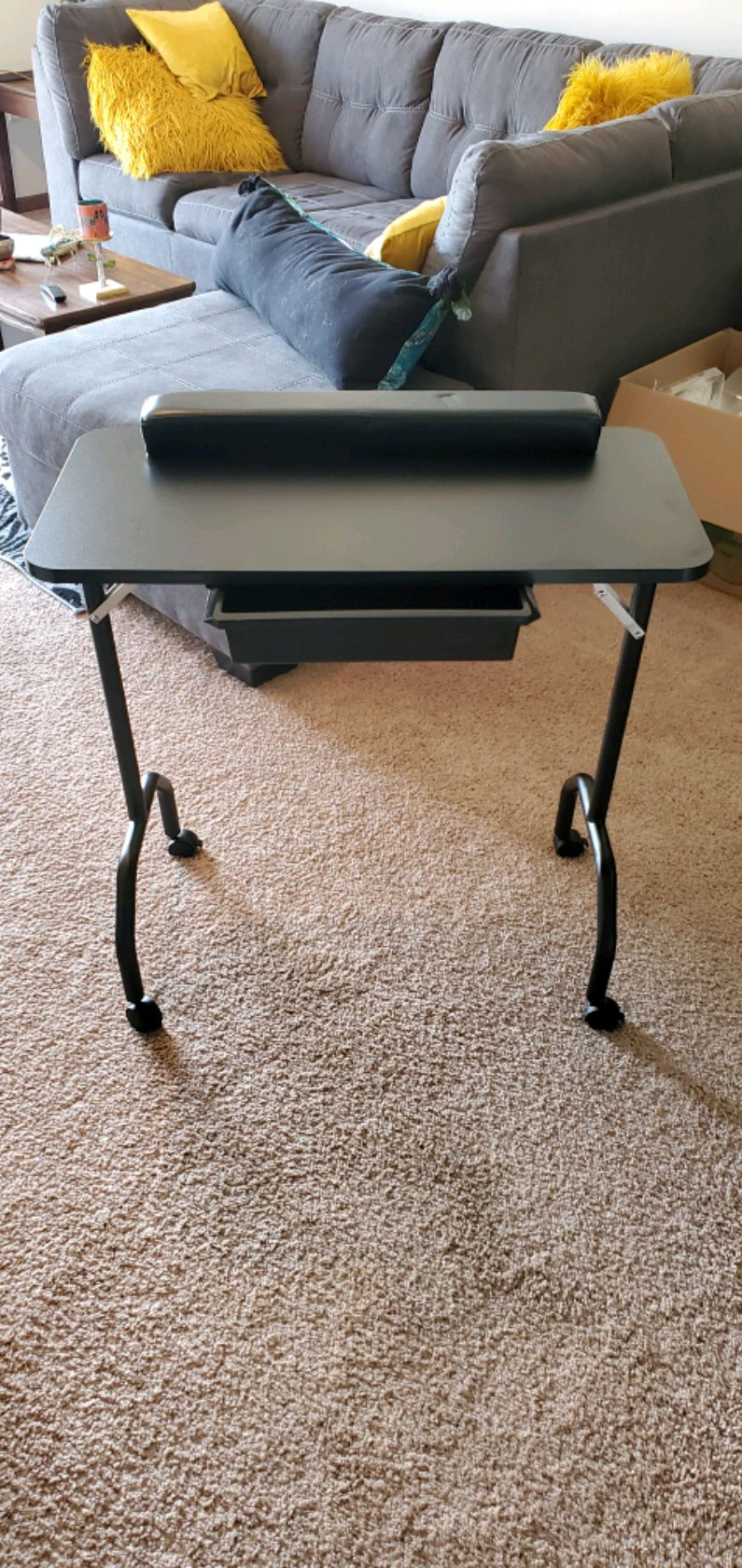 Photo Nail Tech Table with Carrying bag