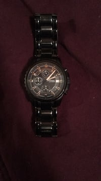 round silver-colored chronograph watch with link bracelet Chesapeake, 23321