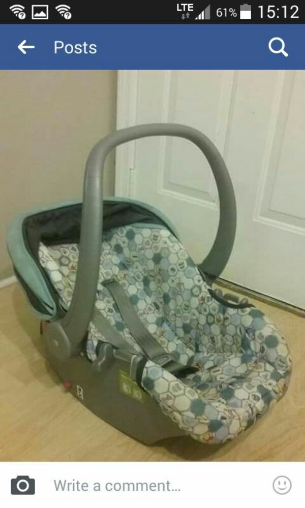 46d72580c3c Used baby s gray and white car seat carrier screenshot for sale in  Lancaster - letgo