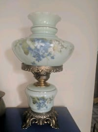 white and blue floral table lamp Florence, 35634