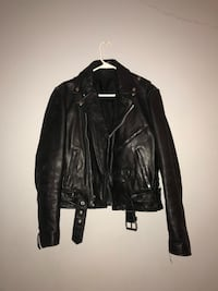 black leather zip-up jacket Rochester Hills, 48309
