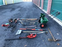 Mixed lot of gardening equipment for yard or decoration